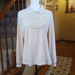 Mardi Modes new york vintage 70's cream and lace b